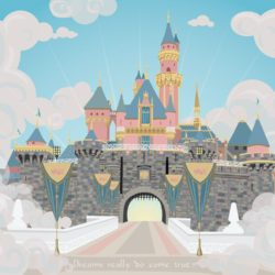 disneylandcastle_whiteclouds